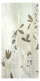 Metallic Foil Fresco Field II Print by June Erica Vess