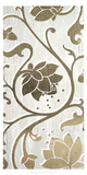 Metallic Foil Weathered Floral Panel II Posters by June Erica Vess