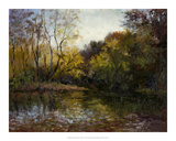 Bend in the River at Morrow Giclee Print by Mary Jean Weber