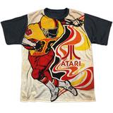 Youth: Atari: Football- Rush Action Black Back T-shirts