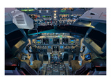 737 Next Generation flight deck Print by  Anonymous