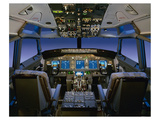 737 pilot-centered flight deck Prints by  Anonymous