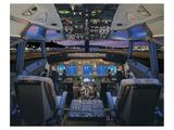 737 pilot-centered flight deck Prints by  Anonymous