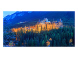 Banff Springs Hotel at night Prints by  Anonymous