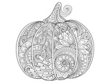 Beautiful Pumpkin Coloring Art Prints by  Anonymous