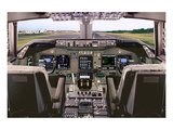 Boeing 747 Flight Deck Prints by  Anonymous