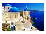 Blue Santorini IV Prints by  Anonymous