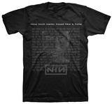 Nine Inch Nails- Head Like a Hole Lyrics Shirts