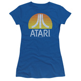 Juniors: Atari- Distressed Sunrise Logo Shirt