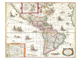 America noviter delineata 1631 Prints by  Hondio