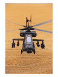 AH-64A Apache flies over fields Print by  Anonymous