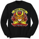 Crewneck Sweatshirt: White Zombie- La Sexorcisto T-shirt