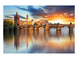 Charles bridge Czech Republic Prints by  Anonymous