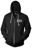 Zip Hoodie: Nine Inch Nails- Block Logo Hettejakke