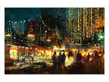 colorful nightlife Prints by  Anonymous