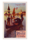 Chemin de fer Est Paris-Venise Prints by  Willette