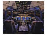737 Flight deck before Take-Off Prints by  Anonymous