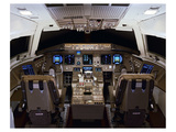 horizontal format 777 flight deck Prints by  Anonymous