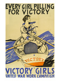 Every Girl Pulling for Victory Póster por Penfield, Edward