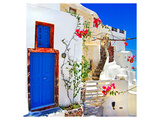 Blue Santorini II Posters by  Anonymous