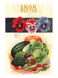 1898 Flower Vegetable Catalog Art by  Anonymous