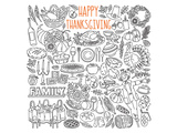 Happy Thanksgiving Doodle Art Posters by  Anonymous