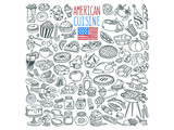American Cuisine Coloring Art Prints by  Anonymous
