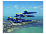 Anonymous - Blue Angels F/A Hornet maneuvers - Art Print