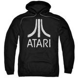 Hoodie: Atari- Distressed Logo Pullover Hoodie