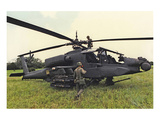 AH-64A Apache Helicopter Print by  Anonymous