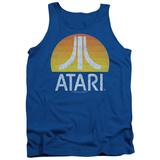 Tank Top: Atari- Distressed Sunrise Logo Tank Top