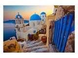Blue Santorini V Giclee-tryk i høj kvalitet af Anonymous