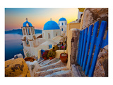 Blue Santorini V Prints by  Anonymous