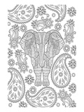 Elephane & Teardrop Coloring Art Posters by  Anonymous