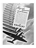 DC-3 Wings of Commerce Ad Prints by  Anonymous