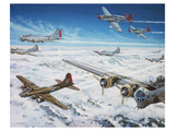 B17 with Tuskegee escort Poster by  Anonymous