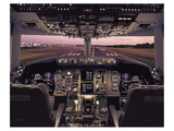 Boeing 767 Flight Deck Print by  Anonymous