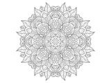 Anonymous - Decorative Amulet Mandala Coloring Art - Posterler