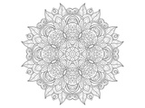 Decorative Amulet Mandala Coloring Art Posters by  Anonymous