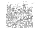 Castle & Fortress Coloring Pattern Art by  Anonymous