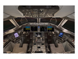787 Flight Deck Simulator Print by  Anonymous