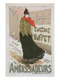 Eugénie Buffet - Ambassadeurs Poster by Lucien Métivet