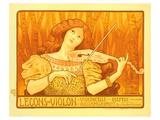 Lecons de Violon Posters par Paul Berthon