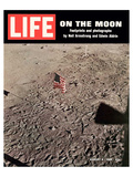 LIFE On the Moon-Footprints Print by  Anonymous