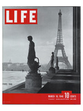 LIFE Paris Eiffel Tower 1946 Poster by  Anonymous
