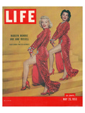 LIFE Marilyn & Jane Russel Art by  Anonymous