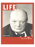 LIFE Churchill Britain's Warlord Kunstdrucke von  Anonymous