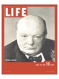 LIFE Churchill Britain's Warlord Poster tekijänä  Anonymous
