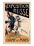 exposition Russe Champ de Mars Print by Caran D'Ache