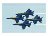 F/A-18 Hornet fighters in flight Prints by  Anonymous